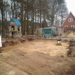Bouw put ontgraven ten behoeven van nood units