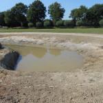 Natuur vijver gegraven